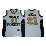 Canotte NBA NCAA Wake Forest Demon Deacons Tim Duncan Blacno
