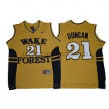 Canotte NBA NCAA Wake Forest Demon Deacons Tim Duncan Dorado