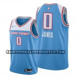 Canotte Sacramento Kings Justin James Citta 2019-20 Blu