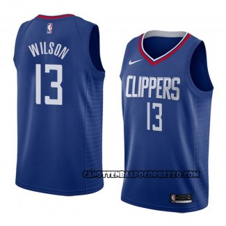 Canotte Los Angeles Clippers Jamil Wilson Icon 2018 Blu