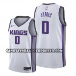 Canotte Sacramento Kings Justin James Association 2019-20 Bianco
