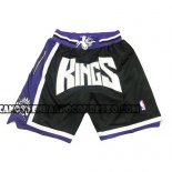 Pantaloncini Sacramento Kings Just Don Nero