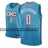 Canotte NBA Thunder Russell Westbrook Ciudad 2018-19 Blu