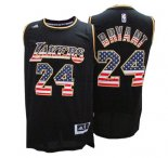 Canotte NBA American Flag Lakers Bryant Nero