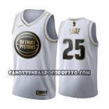 Canotte Golden Edition Detroit Pistons Derrick Rose 2019-20 Bianco