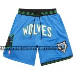 Pantaloncini Minnesota Timberwolves Mitchell And Ness Jsut Don Blu
