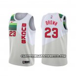Canotte Milwaukee Bucks Sterling Brown Earned Bianco