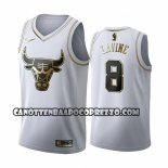 Canotte Golden Edition Chicago Bulls Zach Lavine 2019-20 Bianco