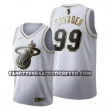 Canotte Golden Edition Miami Heat Jae Crowder 2019-20 Bianco
