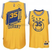 Canotte NBA Throwback City Bus Warriors Durant Giallo