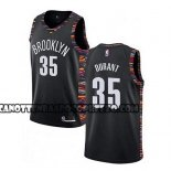 Canotte Brooklyn Nets Kevin Durant Ciudad 2019-20 Nero