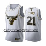 Canotte Golden Edition Chicago Bulls Thaddeus Young 2019-20 Bianco