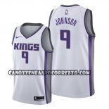 Canotte Sacramento Kings B.j. Johnson Association Bianco