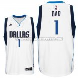 Canotte NBA Festa del papa Mavericks Dad Bianco