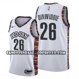 Canotte Brooklyn Nets Spencer Dinwiddie Citta Edition Bianco