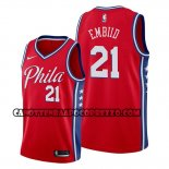 Canotte Philadelphia 76ers Joel Embiid Statement Edition Rosso