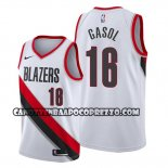 Canotte Portland Trail Blazers Pau Gasol Association Bianco